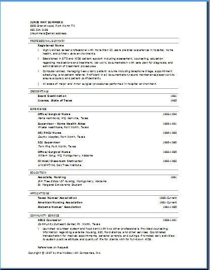 proper resume formats
