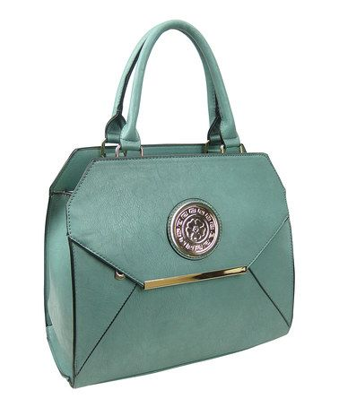 Another great find on #zulily! Green & Gold-Trim Shoulder Bag by AR New York #zulilyfinds