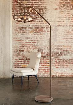 Industrial cage 3 light arc rust floor lamp lamps pinterest industrial cage 3 light arc rust floor lamp mozeypictures Choice Image