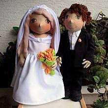 Bábiky - Bábiky Nevesta so ženíchom - 5822109_