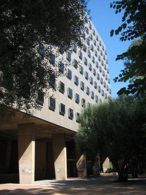 UCLA, Bunche Hall ~ designed by architect Maynard Lyndon in 1964 ...