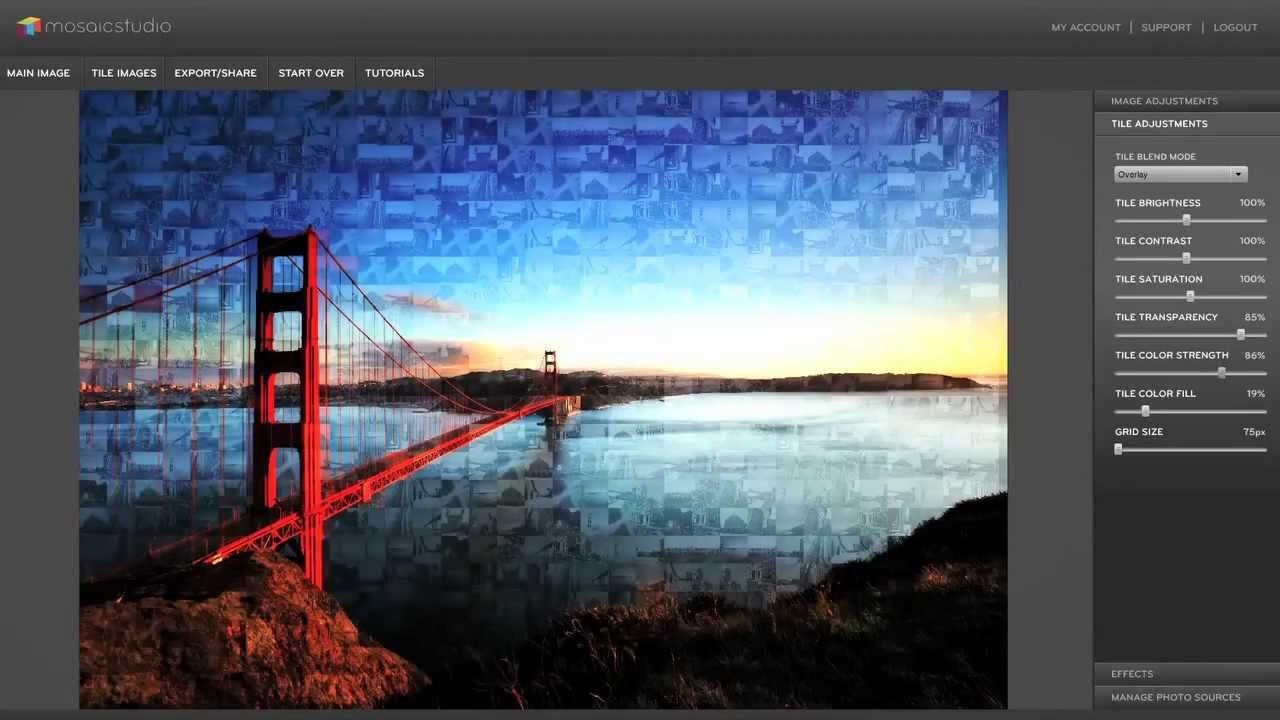 How to make a photo mosaic with MosaicStudio | After Effects ...