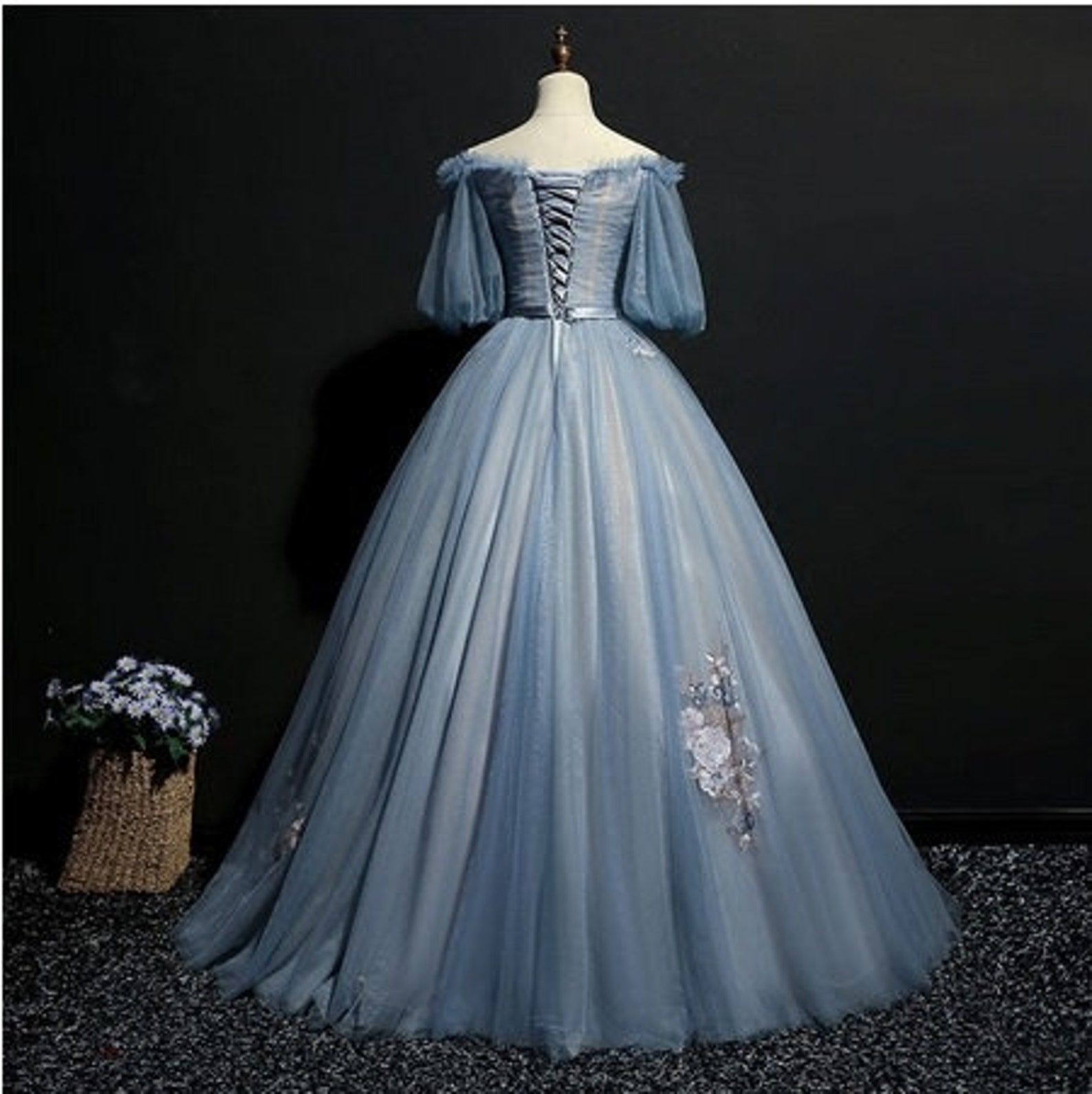 Light Ash Blue Vintage Cosplay Ball Gown Medieval Dress Etsy Medieval Dress Ball Dresses Prom Dresses Blue [ 1592 x 1588 Pixel ]