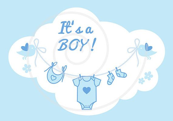 New Baby Clip Art It S A Girl It S A Boy Blue And Pink Baby Clothes Line Baby Shower Nursery Commercial Use Png Eps Svg Download In 2021 Baby Clip Art New