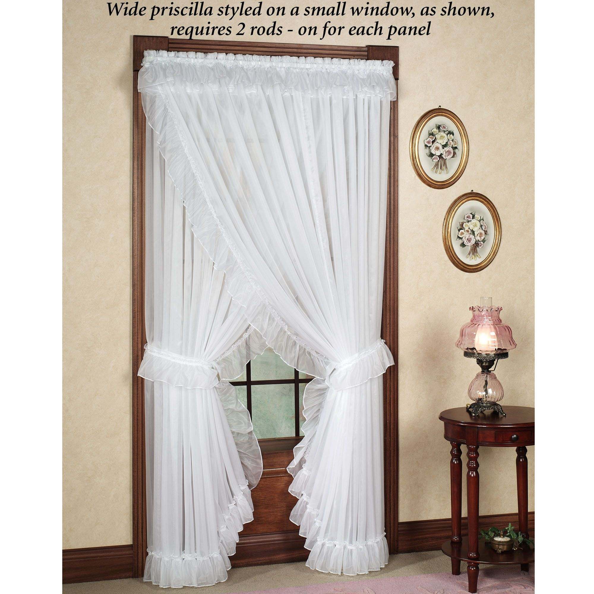 Jessica Ninon Ruffled Priscilla Curtains Priscilla Curtains