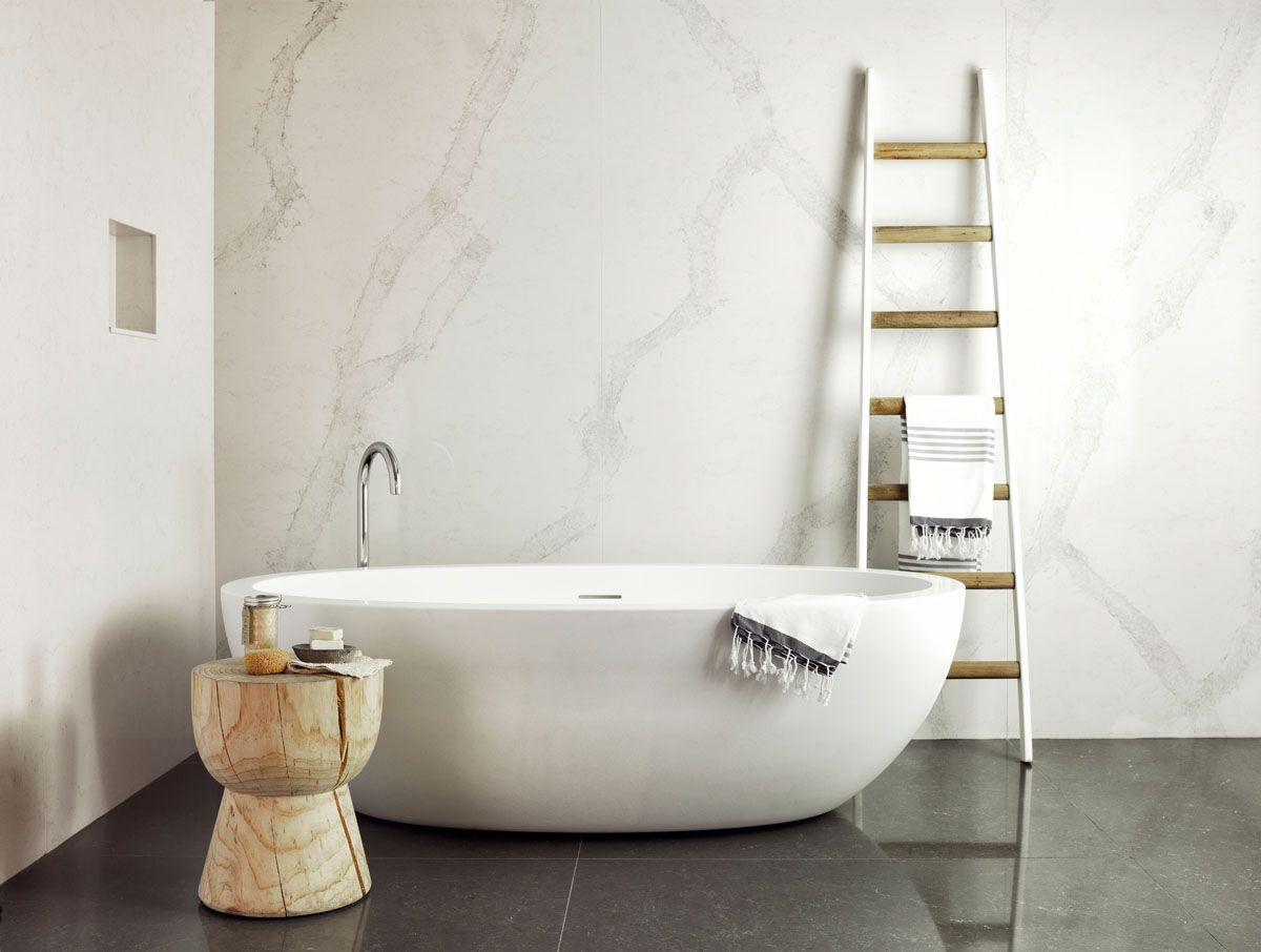5131 Calacatta Nuvo™ - Caesarstone Alexandria Showroom Bathroom ...