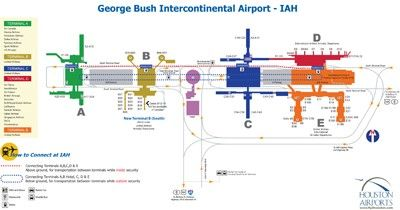 Houston airport terminal B map Maps Pinterest Usa cities