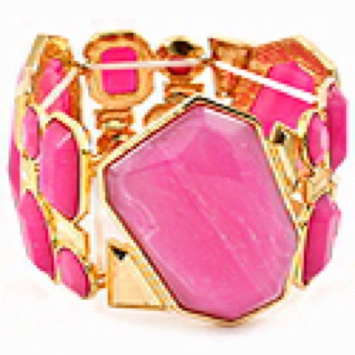 Pink Chunk Stone Stretch Bracelet from Morties for $18.50 on Square Market