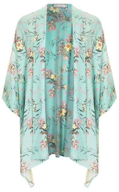 kimono à fleurs topshop