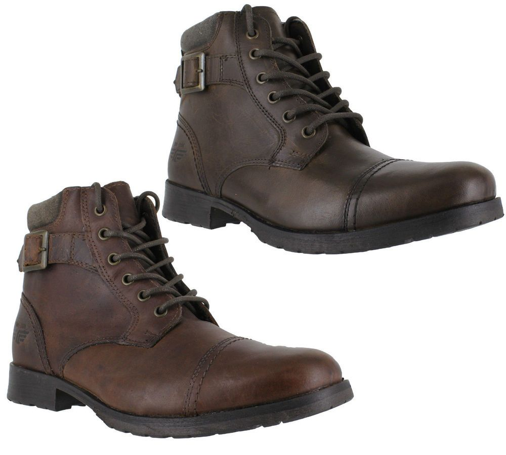 056c1137526 Details about Mens Red Tape Croxdale Casual Military Leather Lace Up ...