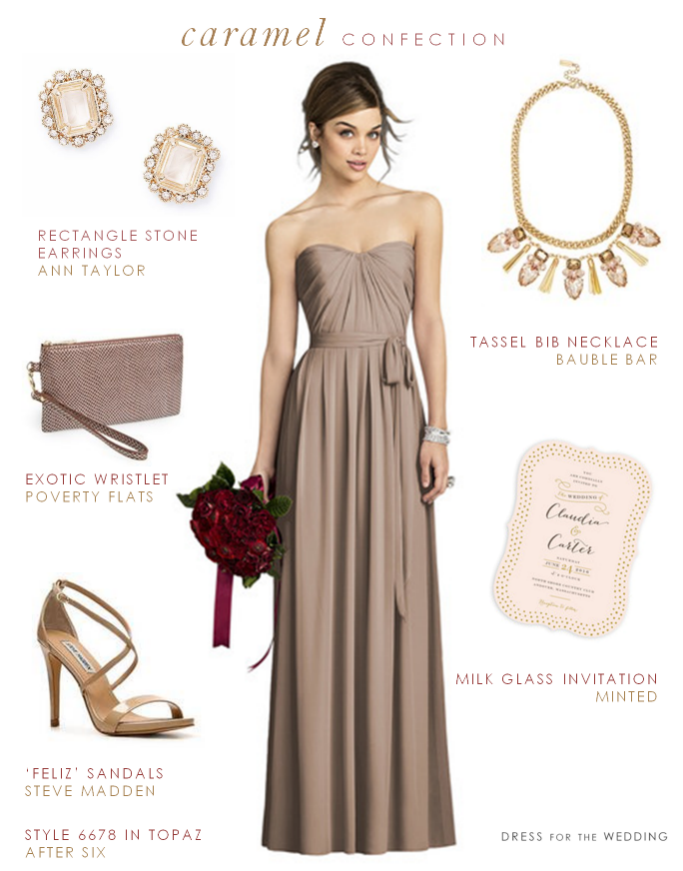 Taupe Bridesmaid Dress | Creative Wedding Inspiration | Pinterest ...