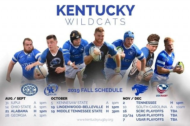 Kentucky Rugby Fall 2019 Schedule Photo Design and Layout ...