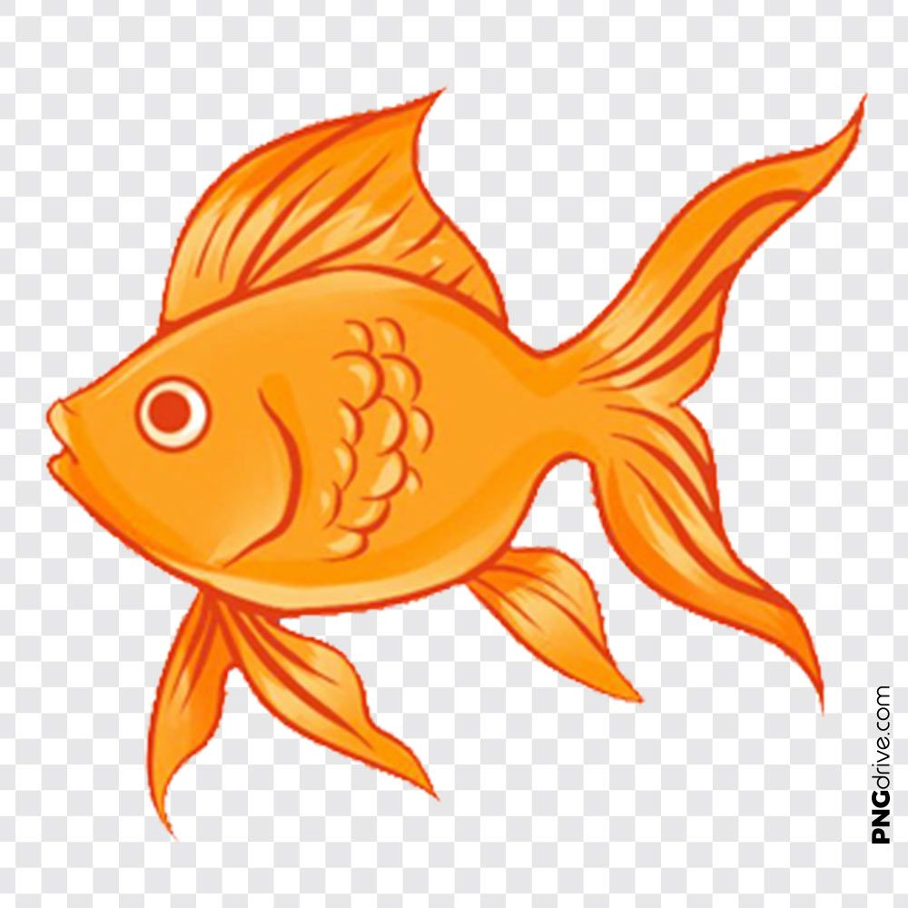 Vector Golden Fish Clipart Png Image With Images Fish Clipart Golden Fish Clip Art