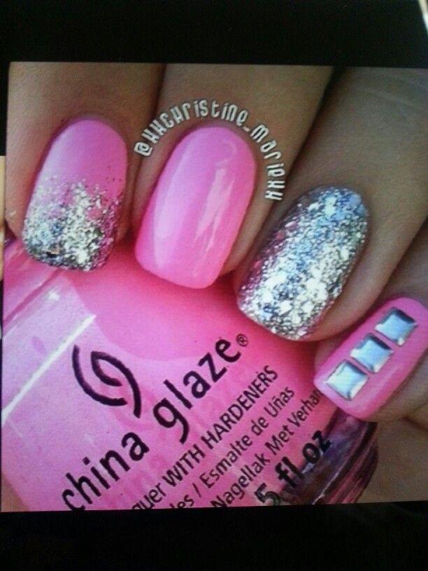 barbie pink nail art design nails