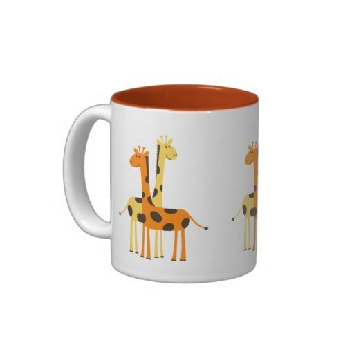 Cute Funny Giraffe Pair Two Tone Coffee Mug Zazzle Com Mugs Funny Giraffe Cute Mugs