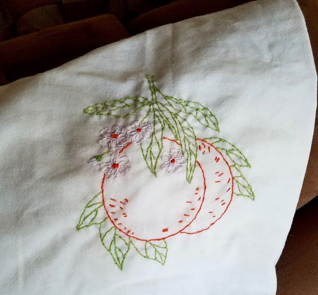 My Mom Calling: Embroidered Kitchen Towels