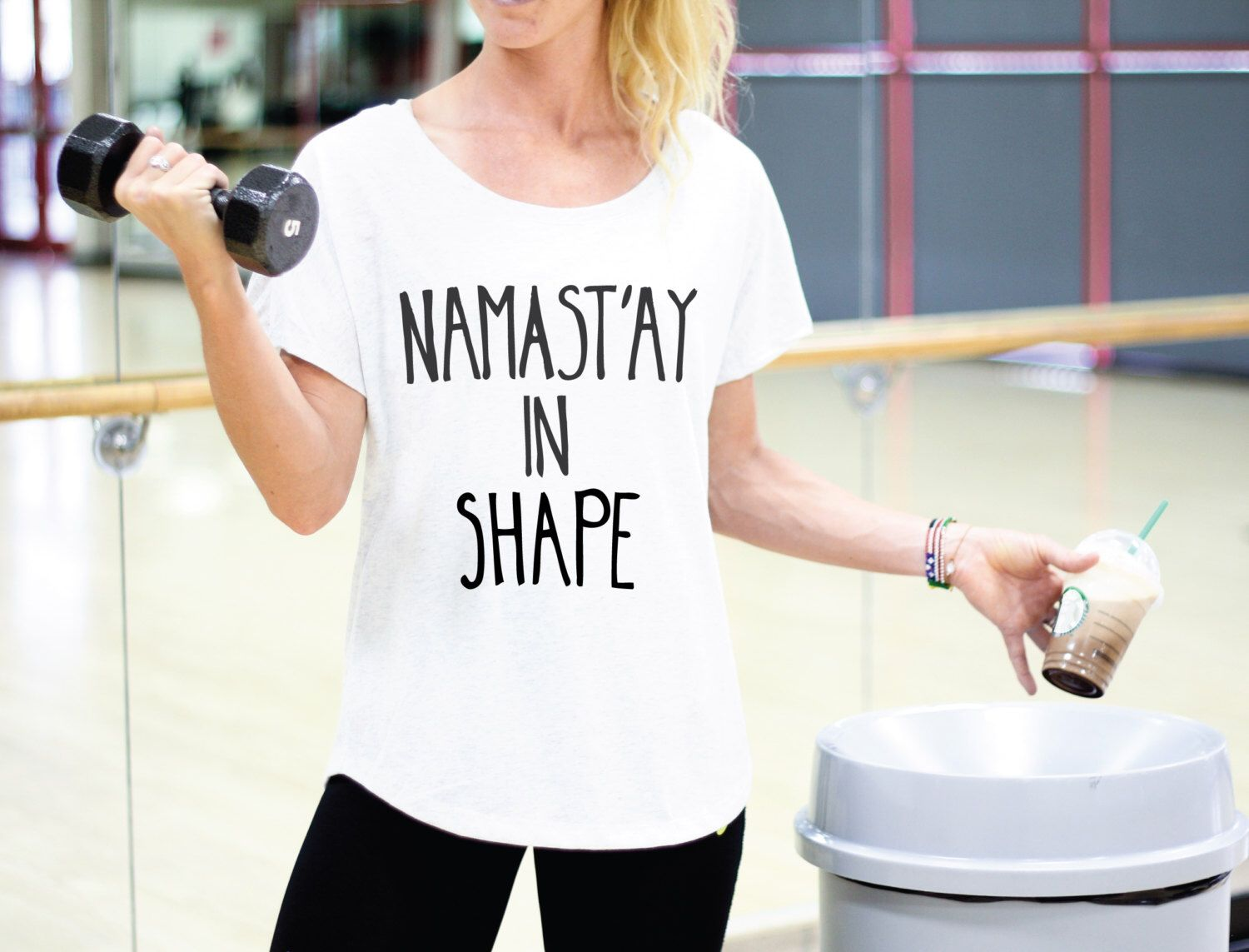 New Years Shirt - Funny New Years Shirt - Yoga Shirt - Yoga Clothes - Yoga Tank - New Years Resolution - Namastay In Shape - Namaste In Bed door ArimaDesigns op Etsy https://www.etsy.com/nl/listing/261683978/new-years-shirt-funny-new-years-shirt