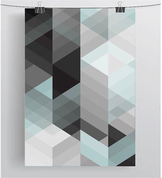 Abstract Printable Wall Art Geometric Print by PrintAvenue on Etsy