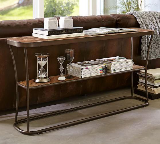 bartlett metal reclaimed wood console table bathroom pinterest rh pinterest com
