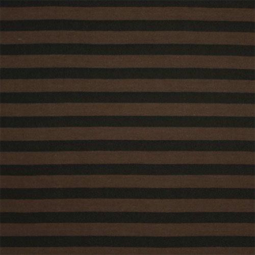 b85c541c0e3 Brown Black Stripe Cotton Jersey Blend Knit Fabric - Cotton poly jersey  blend knit in a deep color combination of dark chocolate brown and black  stripe.