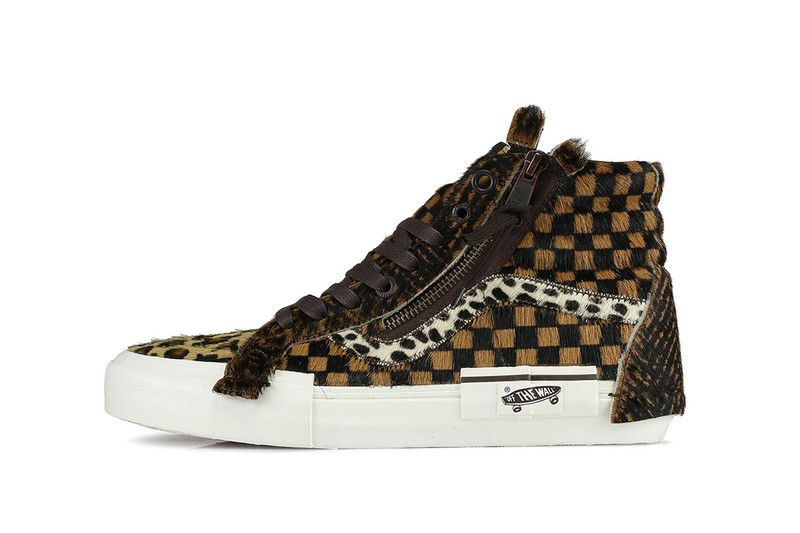 d5c7430ac5817 Vans Patches Iconic Sk8-Hi With Different Animal Fur Dress With Sneakers