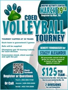 Coed Volleyball Tourney Fundraiser #fundraiser #coed