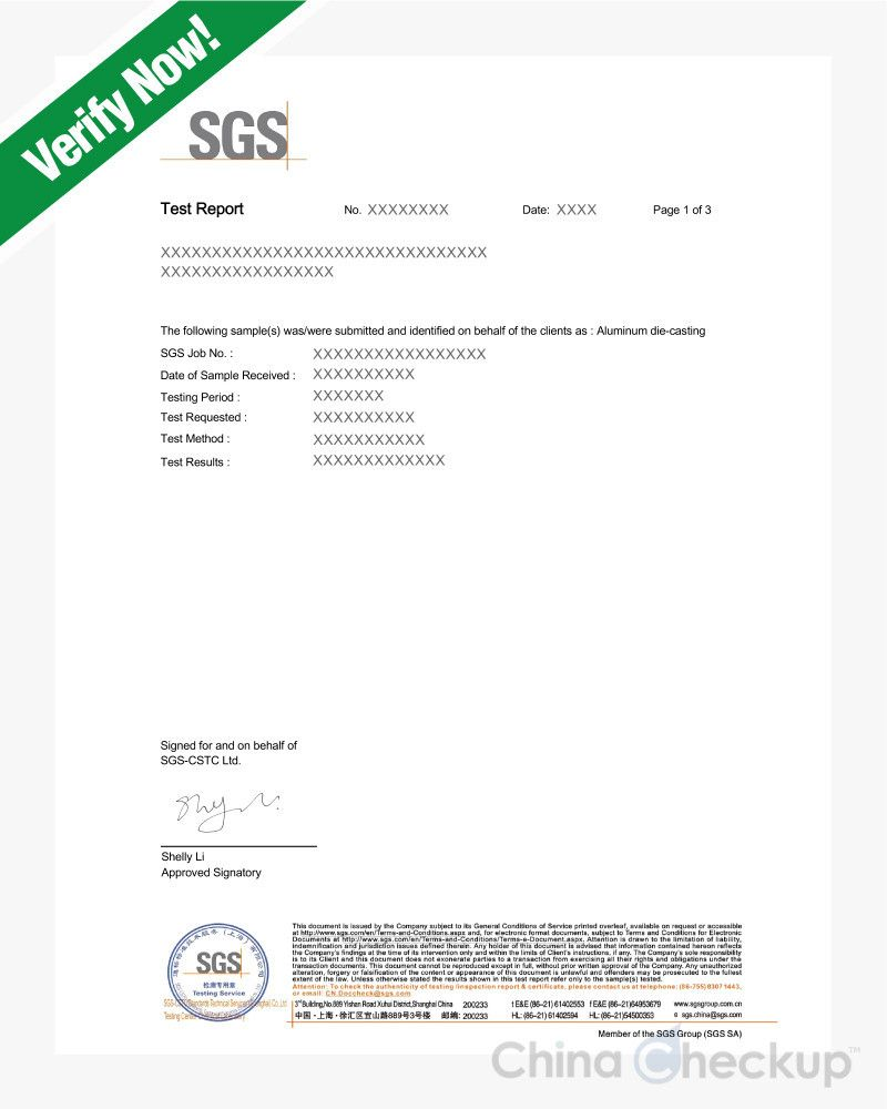 Product Test Report  Chinese Certificates