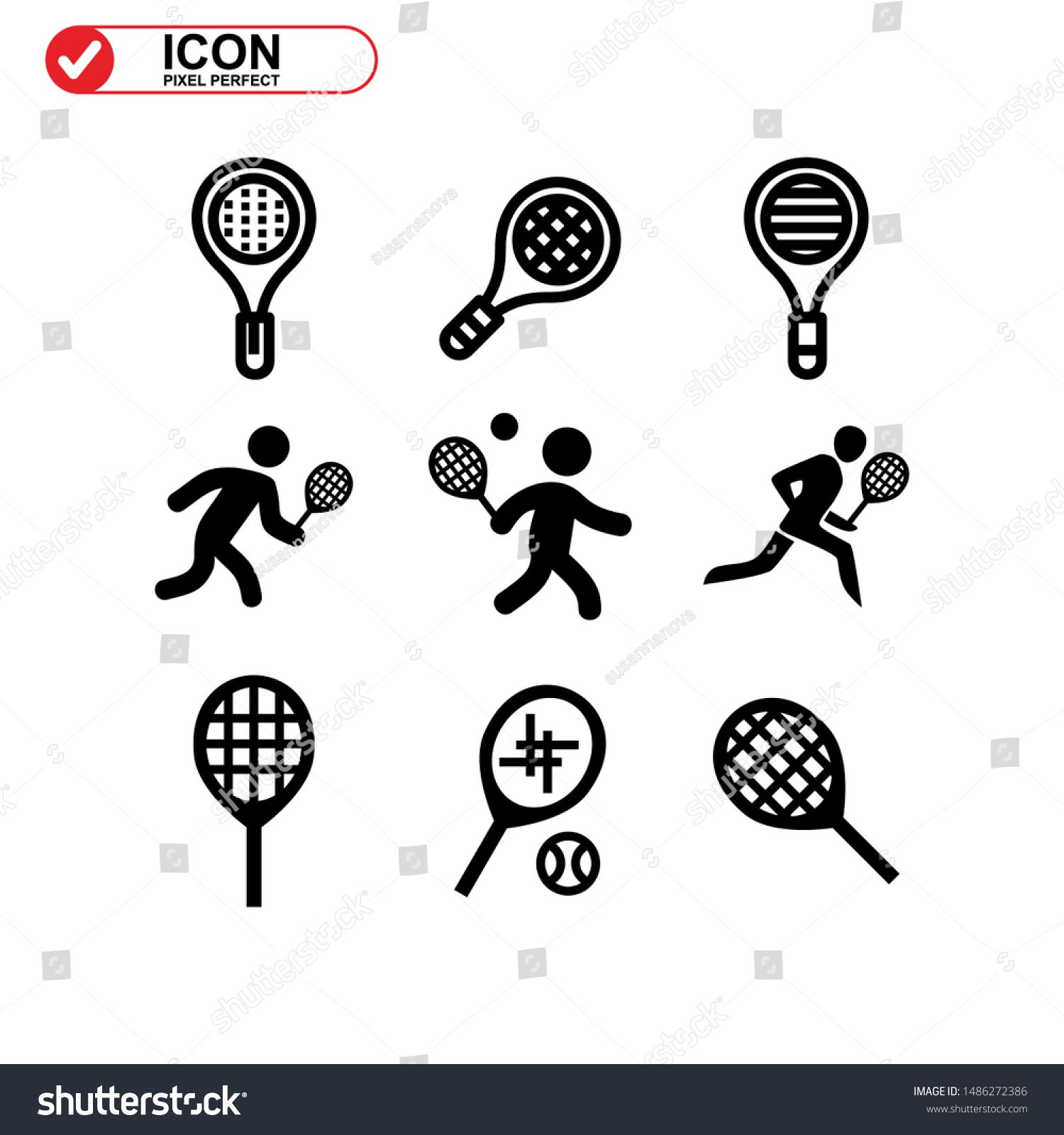 Tennis Icon Isolated Sign Symbol Vector Illustration Collection Of High Quality Black Style Vector Icons N Spon In 2020 Art Videos Tutorials Vector Icons Art Videos