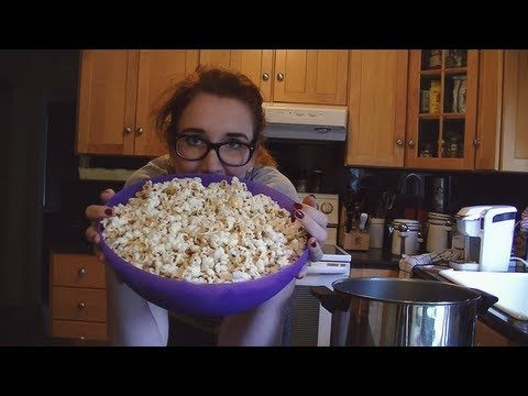 Guilt free popcorn with only a couple of ingredients and all the control you want? Find out how to make it here!