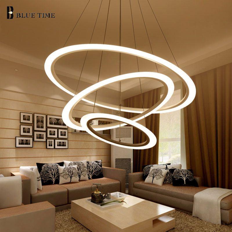 Modern Led Chandelier For Dining Room Living Room Hanging Lamp