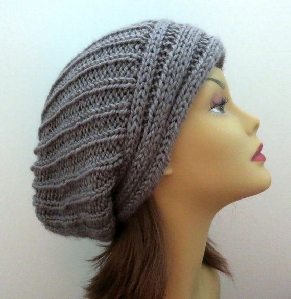 Pdf 163 Knitting Hat Pattern The Yvette Slouch Hat Slouchy Hat