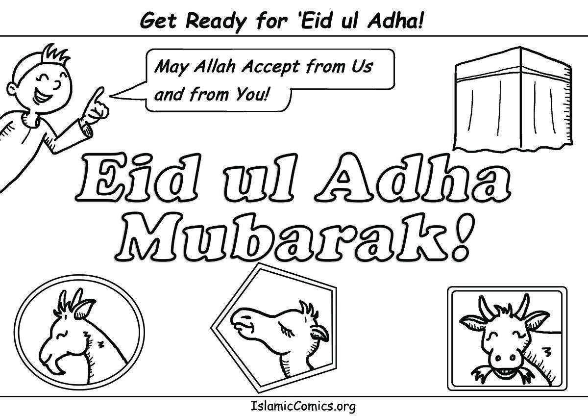 Eid Ul Adha Amp Hajj Coloring Pages Amp Activity Sheets With