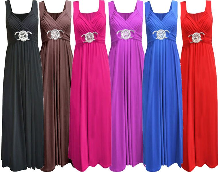 Photo of NEW LAIDES STRONG SIZES LONG maxi evening dress buckle …