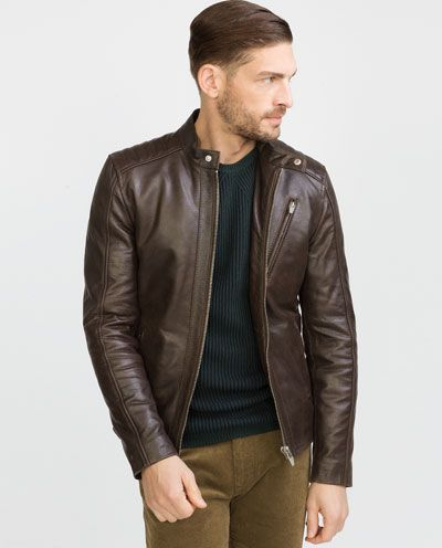 c9cbc54b Image 2 of LEATHER JACKET from Zara | Jackets, trench coat ...