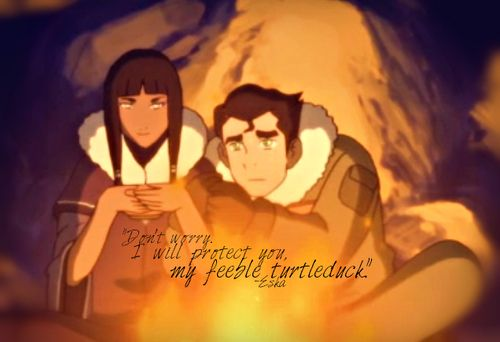 Don 8217 T Worry I Will Protect You My Feeble Turtleduck Eska Avatar The Last Airbender Avatar Quotes Avatar