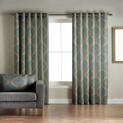 Jeff Banks Home Cyrus Teal Lined Eyelet Curtains  Debenhams Pleasing Teal Living Room Curtains Design Decoration