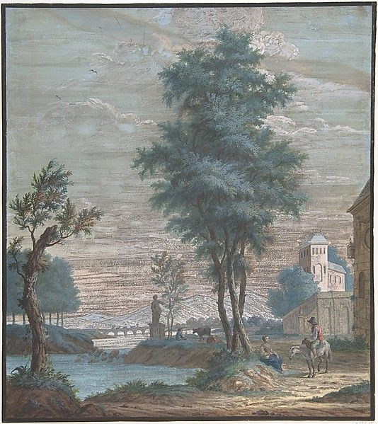 Pieter de Groot Italian Landscape, 1769, gouache. Met Museum. Gift of Adelaide Milton DeGroot, 1967. Accession number 18.