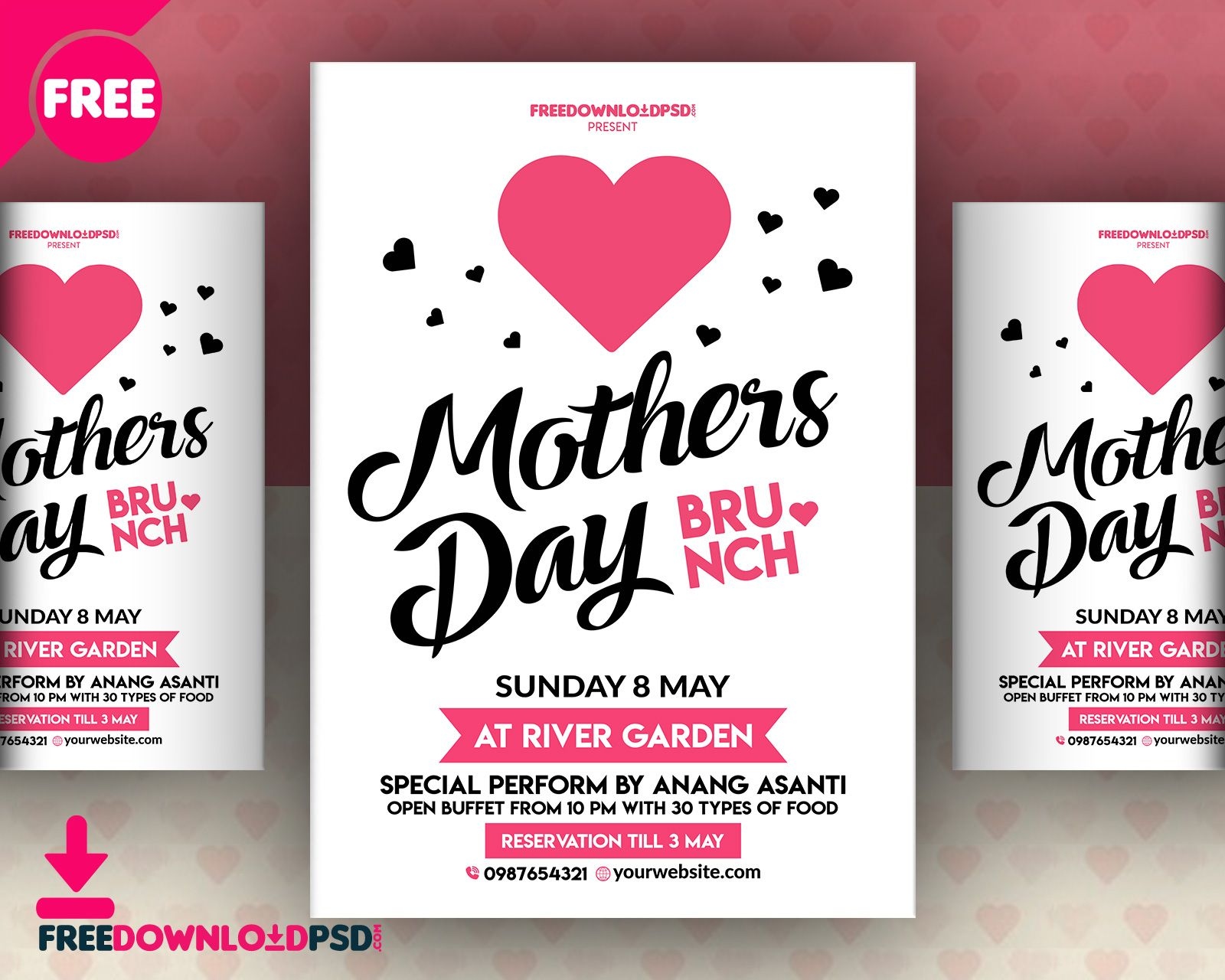 Cool Mothers Day Invitation Flyer Free Psd Download Mothers Day