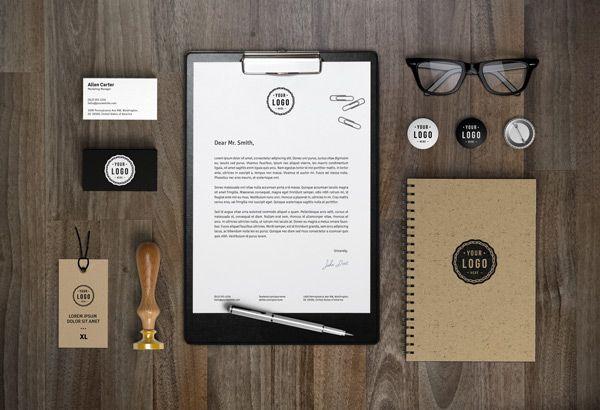 Free Brown And Black Branding Identity Mockup Psd Branding Identity Mockup Corporate Identity Mockup Branding Mockups
