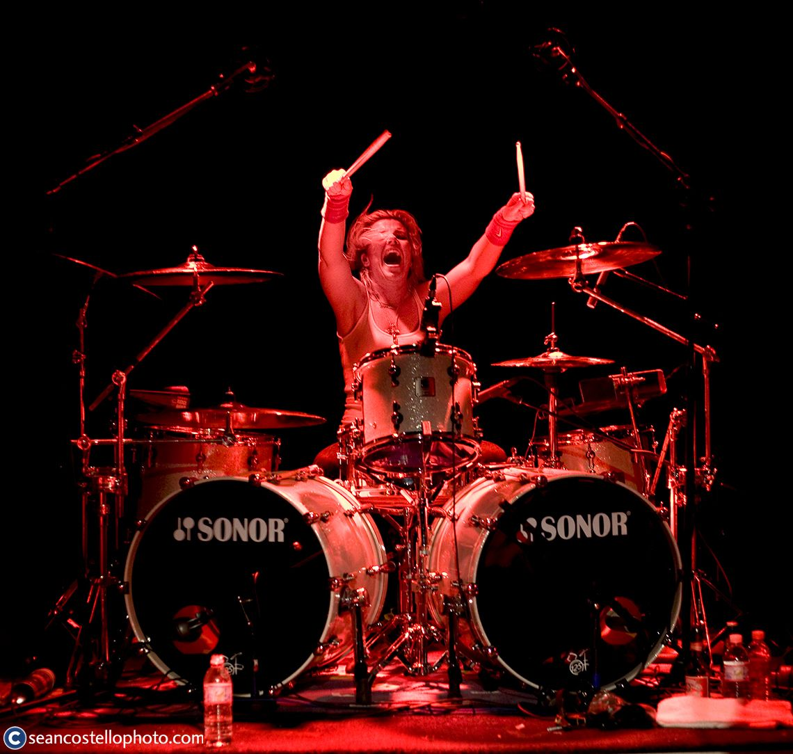 Chelsea Girls Samantha Maloney Playing Sonor Drums Drums Drummer Female Musicians