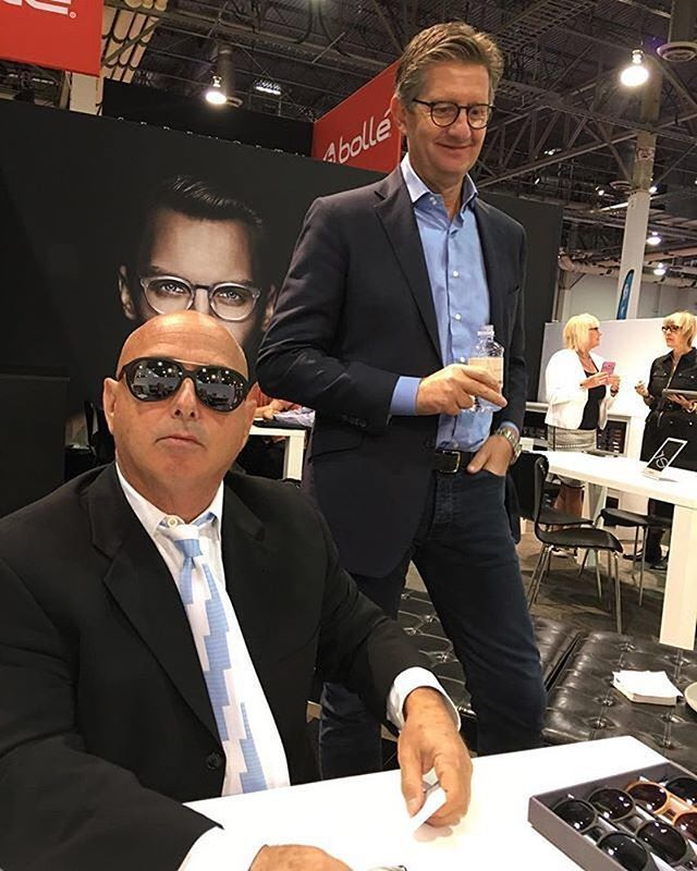 We had so much fun at @intlvisionexpo! Thank you to everyone that came to see us. : MODO's CEO @alexmodoeyewear having a laugh with the team in our MODO booth   #modoeyewear #visionexpo #lasvegas