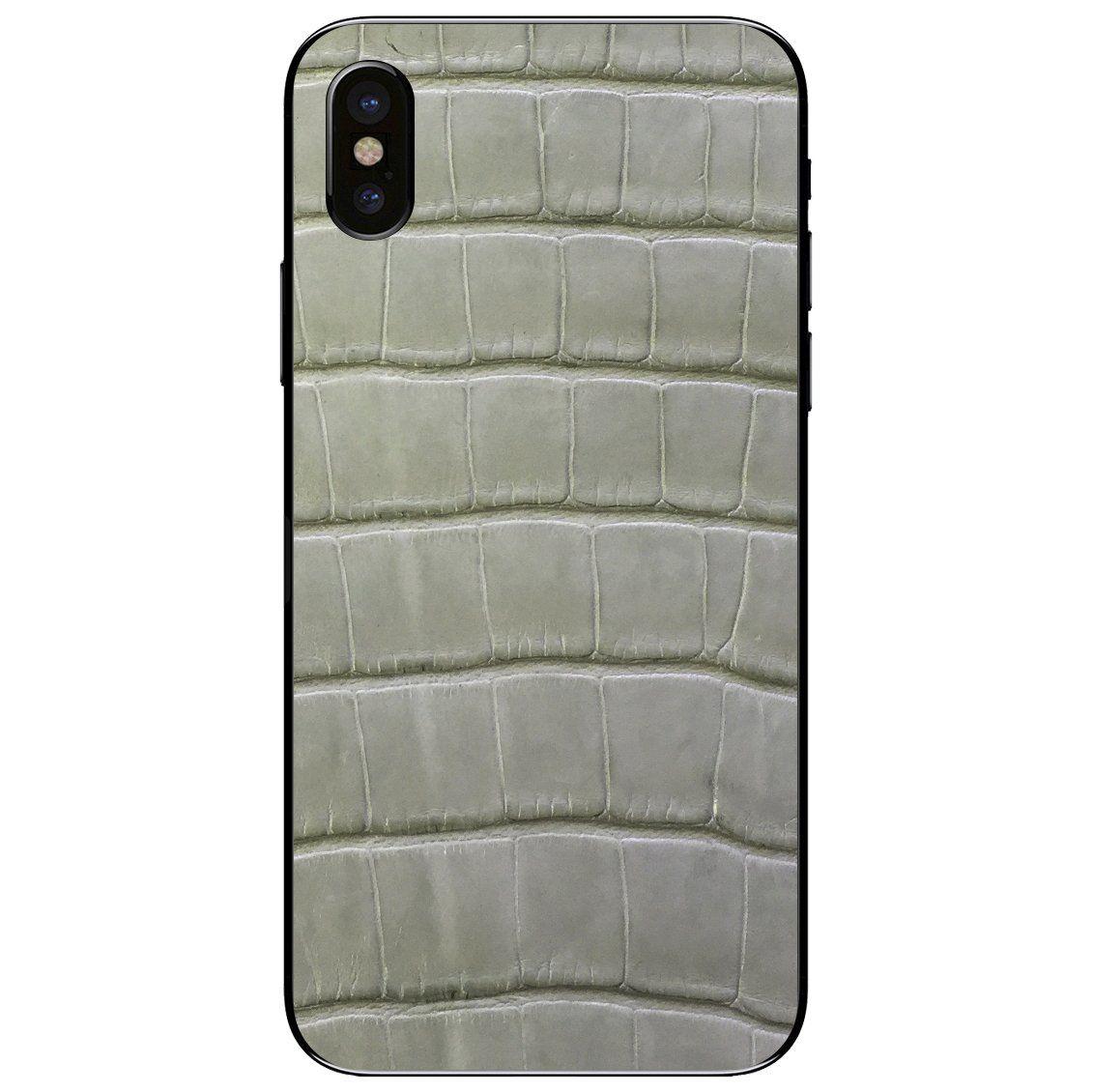 super popular f79b2 72a47 Laurel Green Alligator iPhone X Leather Skin | Products | Leather ...