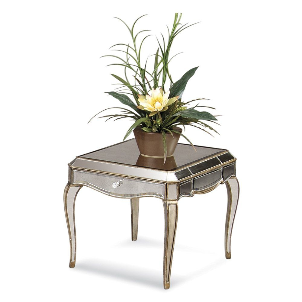 Collette Rectangle End Table | Mirrored console table ...