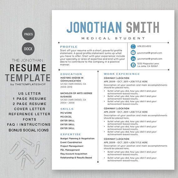 Apple 3-Resume Templates Pinterest Resume templates, Resume