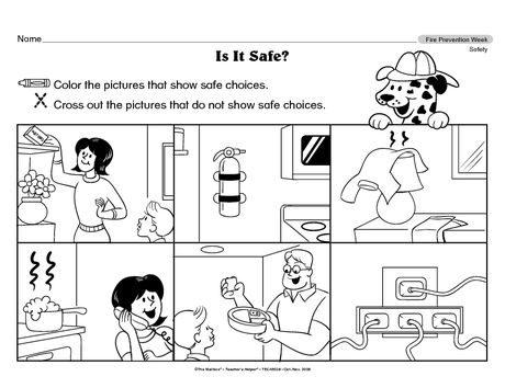 Science Worksheet Fire Safety The Mailbox Fire Safety Preschool Fire Safety Worksheets Fire Safety Unit