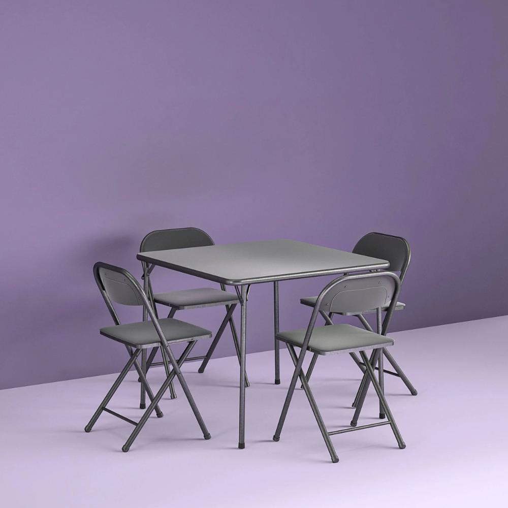 Cosco 5 Piece Card Table Set Black Google Shopping In 2020 Card Table Set Card Table And Chairs Table Cards