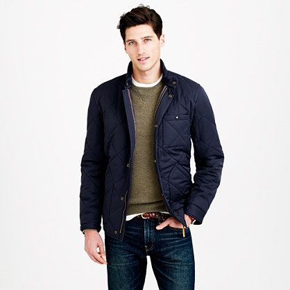 J Crew - Broadmoor Quilted Jacket | Outerwear - Lightweight ... : mens lightweight quilted jacket - Adamdwight.com
