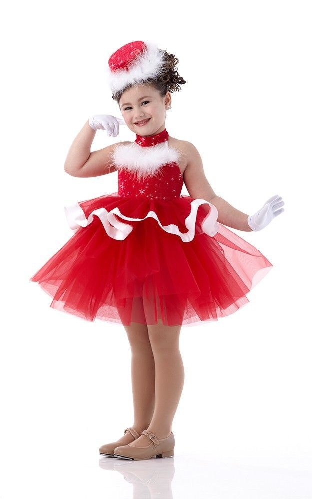 a0289592a HOLLY JOLLY Ballet Tutu w/Gloves Christmas Dress Dance Costume Child &  Adult Sz