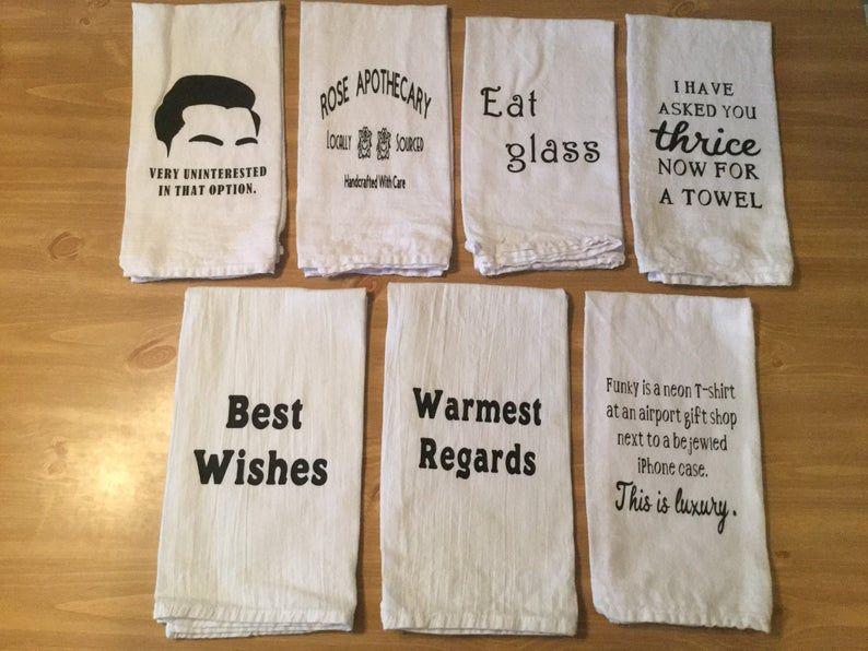 Pick 2 Schitt S Creek Kitchen Towels26 Designs To Choose Etsy Schitts Creek Cross Stitch Funny Writing Gifts