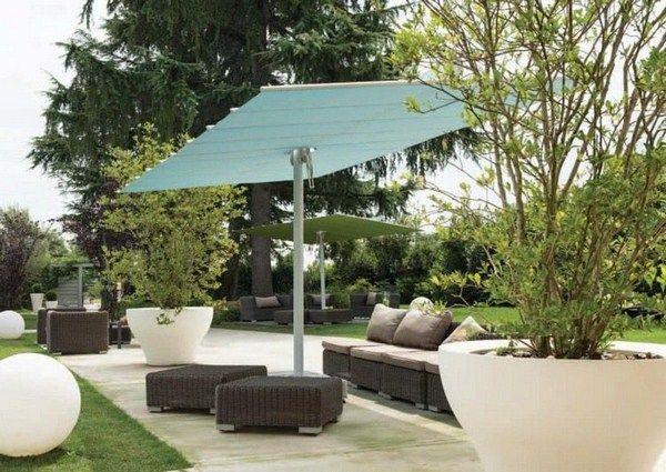 luxury parasols flexy twin cyan garden design sunshade